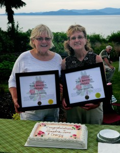 Sandra June Bronze award with cake